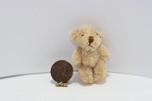 Dollhouse Miniature Super Soft Brown Teddy Bear