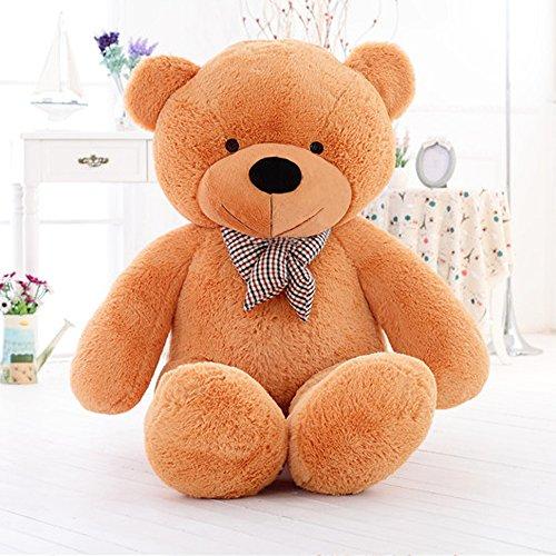 MorisMos Giant Teddy Bear Plush Stuffed Animals Soft Toys For Children Kids Girlfriend 55 14M Brown