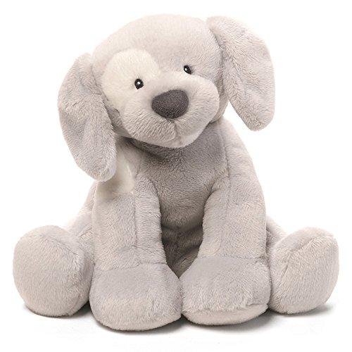 Gund Baby Spunky Dog Keywind Musical Stuffed Animal Gray