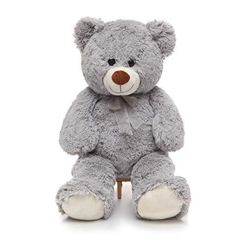 DOLDOA Giant Teddy Bear Soft Stuffed Animals Plush Big Bear Toy for KidsGirlfriend 354 inchGrey