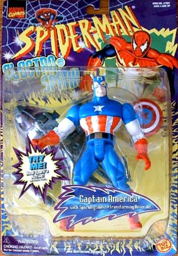 Spider-Man Electro Spark Captain America Figure