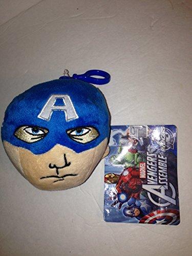 Marvel Avengers Assemble Captain America Backpack Clip Plush