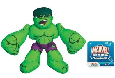 Marvel Super Heroes Adventures Bean Bag Plush Hulk