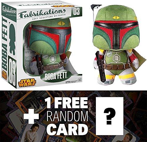Boba Fett Funko Fabrikations x Star Wars Figure  1 FREE Official Star Wars Trading Card Bundle
