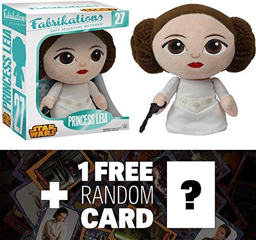 Princess Leia Funko Fabrikations x Star Wars Figure  1 FREE Official Star Wars Trading Card Bundle 62750