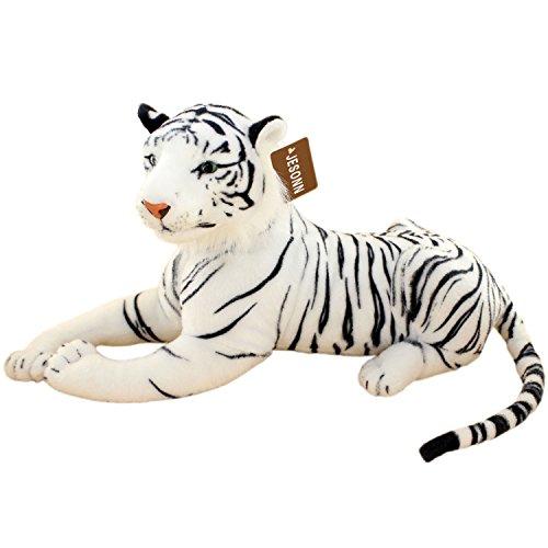 JESONN Realistic Stuffed Animals Tiger Toys Plush White 189 Inch
