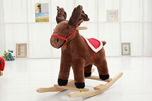 DanyBaby Rocking Animal Ride On Rocking Plush Deer