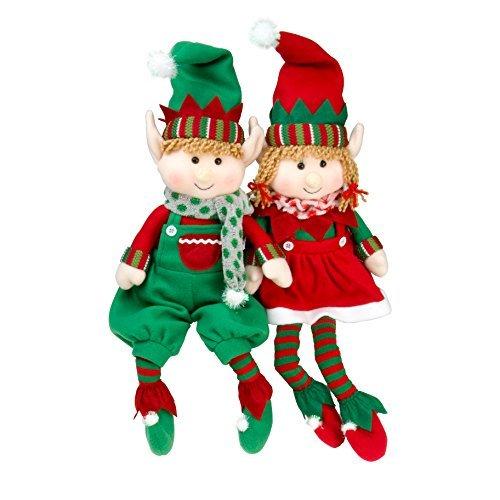 Elf Plush Christmas Stuffed Toys- 18 Boy and Girl Elves Set of 2 Holiday Plush Characters