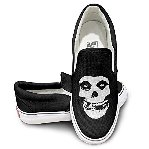 ALIPAPA Custom Mens Womens Funny Classic Skull Fashion Shoes Black Size 35