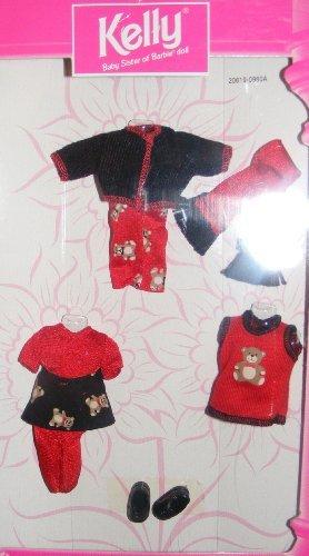 Kelly Doll Fashion Avenue Kelly 1998 Red Black Teddy Bear Outfit