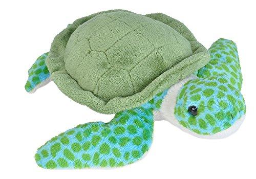 Wild Republic Sea Turtle Plush Stuffed Animal Plush Toy Gifts for Kids Sea Critters 8