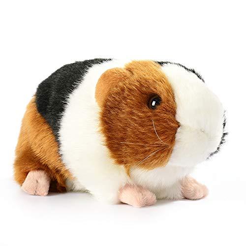 Yudit Cute Guinea Pig Plush Stuffed Animal Toys 7 Inch Black  White