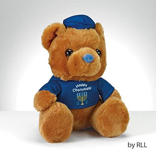 6 Brown and Blue Happy Chanukah Hanukkah Teddy Bear with T-Shirt
