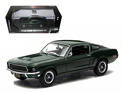 Greenlight 86431 1968 Ford Mustang GT Fastback Green Steve McQueen Bullitt Movie 1968 143 Diecast Model Car