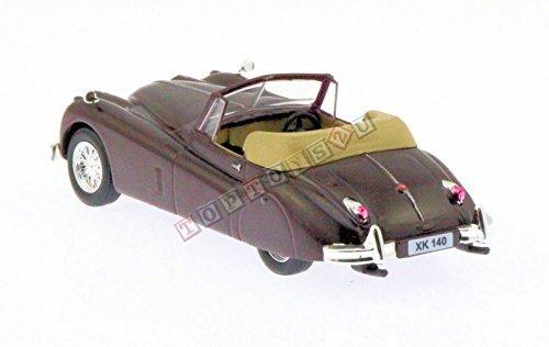 Jaguar Xk 140 Convertible 143 Diecast Model Car In Burgundy By Deagostini