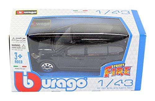 New Burago 143 Diecast Model Car - Ford Focus Estate in Black - Burago Street Fire Range by burago