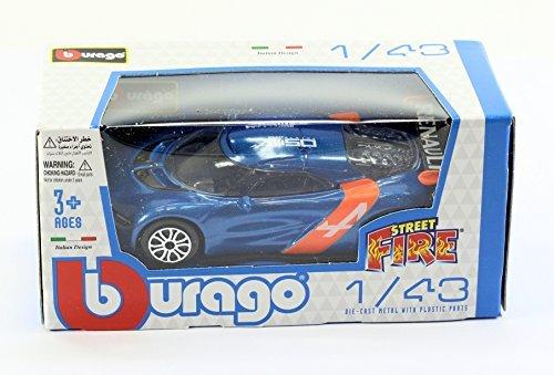 New Burago 143 Diecast Model Car - Renault Alpine A110-50 in Blue - Burago Street Fire Range by burago