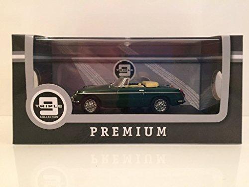 Triple 9 1964 MG BGT Green 143 Diecast Model Car with Cream Interior