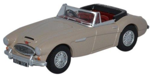 Oxford Diecast 76ah3005 Austin Healey 3000 Metallic Goldin Beige