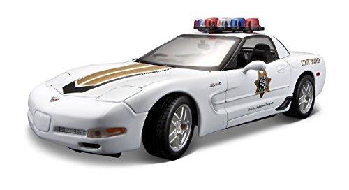 Maisto 2001 Chevy Corvette Z06 Police Diecast Vehicle 118 Scale by Maisto
