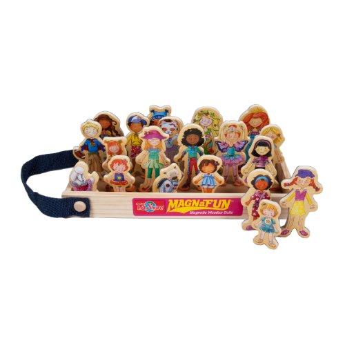 TS Shure Daisy Girls Dolls Wooden Magnets 20 Piece MagnaFun Set