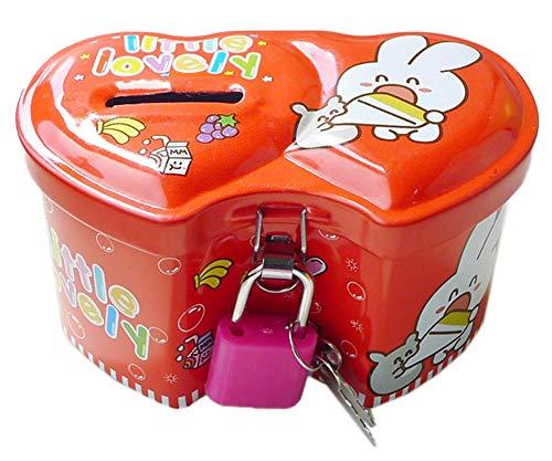 Blancho Bedding Mini Metal Piggy Bank for Kids Boys Girls Money-Wise Educational Piggy Bank84