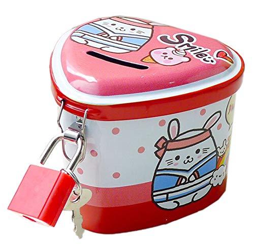 Blancho Bedding Mini Metal Piggy Bank for Kids Boys Girls Money-Wise Educational Piggy Bank94