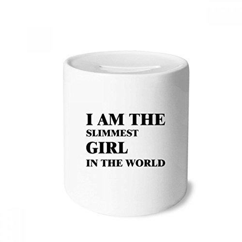 DIYthinker I AmThe Slimmest Girl Money Box Saving Banks Ceramic Coin Case Kids Adults