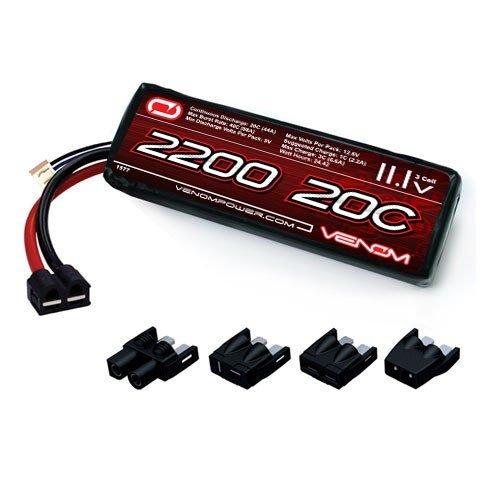 Venom 20C 3S 2200mAh 111V LiPo Battery with Universal Plug EC3DeansTraxxasTamiya for RC Car Truck Plane Drone Heli