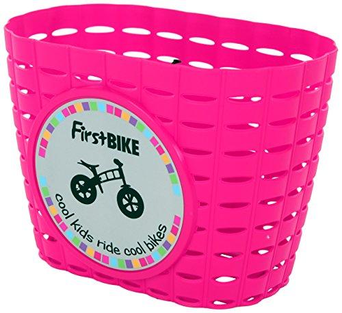 FirstBIKE Kids Balance Bike Accessory - Basket Pink