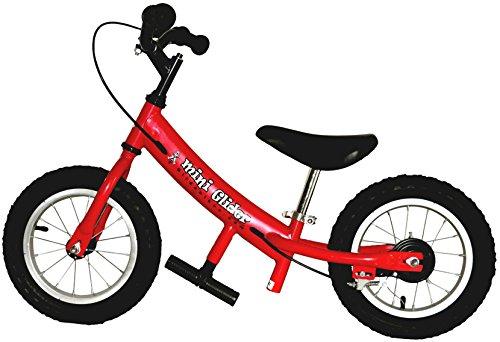 Mini Glider Kids Balance Bike with Patented Slow Speed Geometry Red