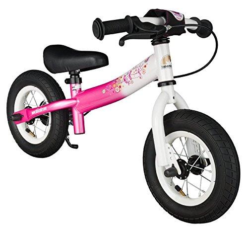 bikestar 10 inch 254cm Kids Balance Bike  Kids Running Bike - Sport - Pink White