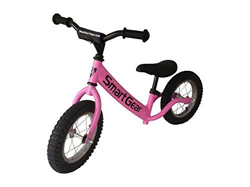 Smart Gear My First Smart Balance Bike Ultra - Lightweight Frame Kids Bike - AIR - Bubblegum Pink 12 Pneumatic Tires