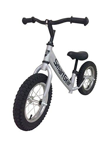 Smart Gear My First Smart Balance Bike Ultra - Lightweight Frame Kids Bike - AIR - Metallic Silver 12 Pneumatic Tires