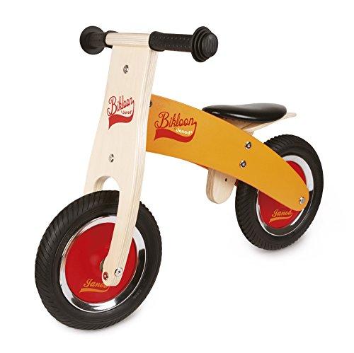 Janod J03263 My First Little Bikloon Wooden Balance Bike OrangeRed