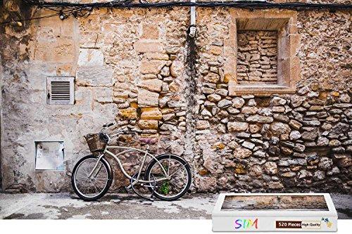 SimPremium Wooden - Bike Wall Street206 X 151 inch - 500 Piece Jigsaw Puzzle