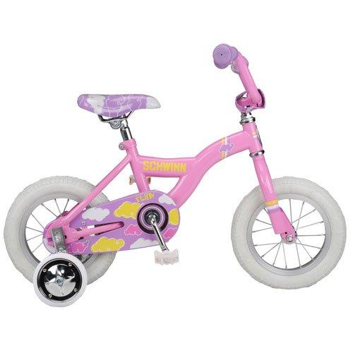 Schwinn Fern 12 Inch Kids Bike with Training Wheels For Girls