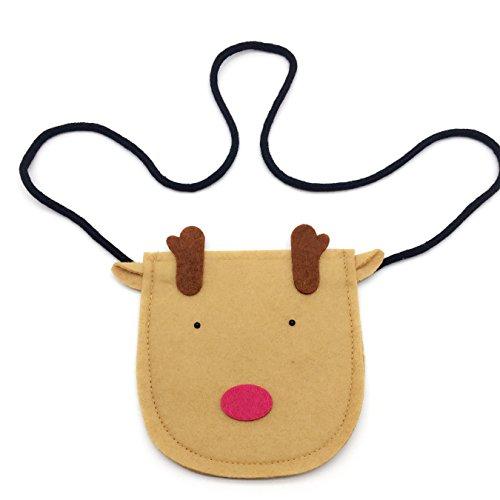 Elesa Miracle Little Girl Bag Purse Reindeer Fox Owl Crossbody Bag Reindeer