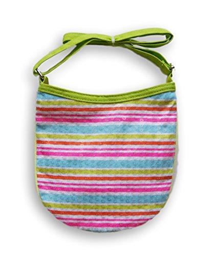 Little Girls Pastel Stripe Sequin Zipper Purse