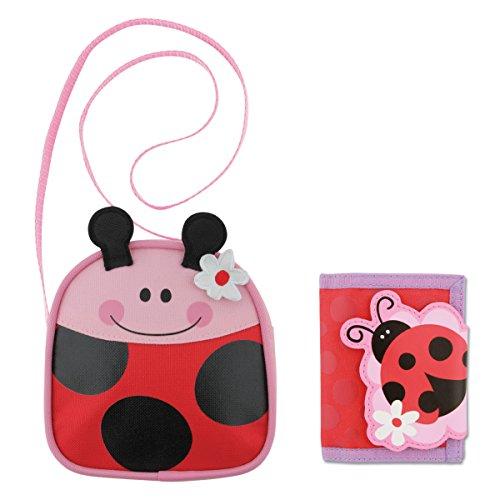 Stephen Joseph Ladybug Crossbody Purse and Ladybug Wallet - Little Girls Purses