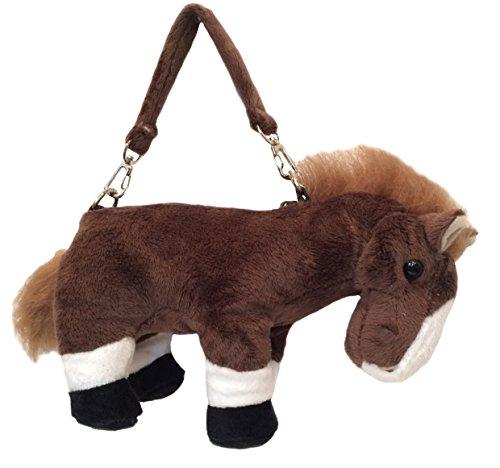 Wishpets Girls 10 Horse Purse Chestnut Brown