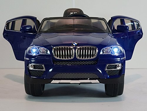 Children Ride on Electric Car Baby Blue BMW X6 with Genuine License Kids Battery Ride on 12V Wheel Motorized Dynamics Remote Control Toy