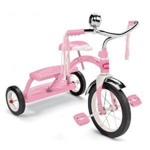 Radio Flyer Girls Classic Dual Deck Tricycle Pink Mini Tool Box ml
