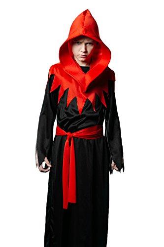 Kids Unisex Demon Halloween Costume Little Devil Diablo Goth Dress Up Role Play 3-6 years