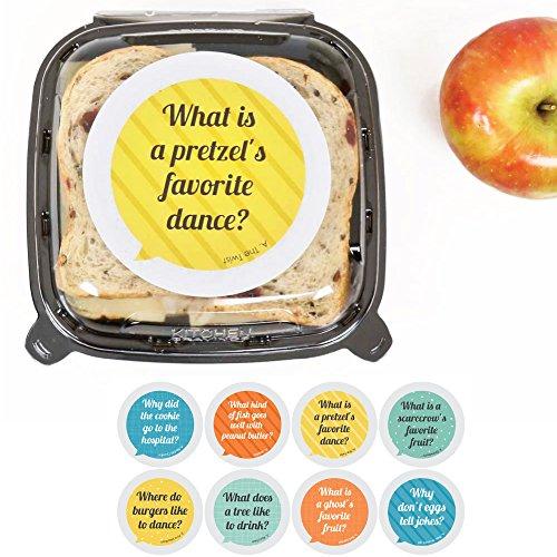 Kids Lunch Box Jokes - Talk Bubble Stickers - Set of 8