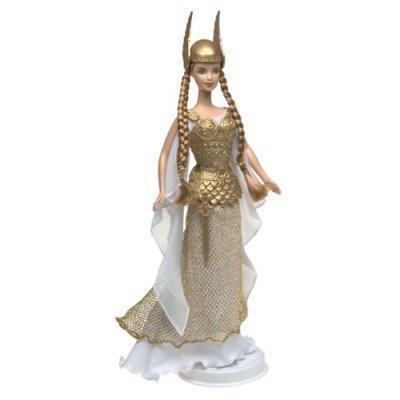 Import Barbie doll world model rare large number Mattel Barbie Dolls of the World Princess Collection - Princess of the Vikings 2003 Collector Edition parallel import goods