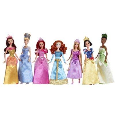 Ultimate Disney Princess Collection 7 Dolls Belle Cinderella Ariel Merida Rapunzel Snow White Tiana