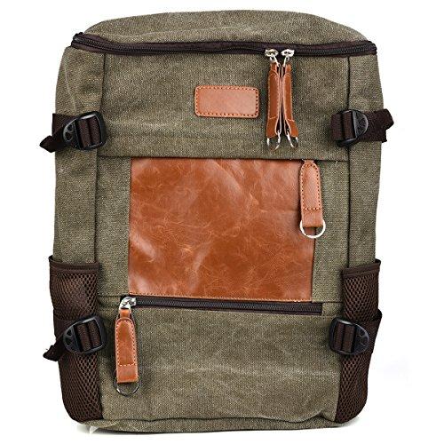 KroO HP Spectre x360 2-in-1 133 Spectre x360 15 Case  15-inch LaptopNotebook School Backpack Olive GreenBrown