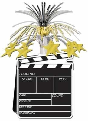 Movie Set Clapboard Centerpiece 15in Pkg12 by Beistle