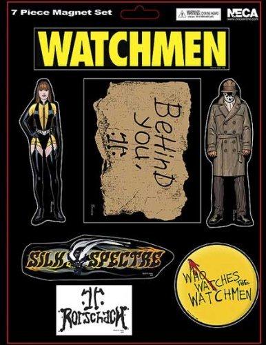 NECA Watchmen Movie Set of 7 Magnets Rorschach and Silk Spectre
